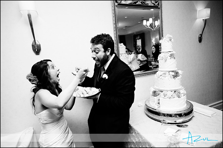 Different cake cutting photographs