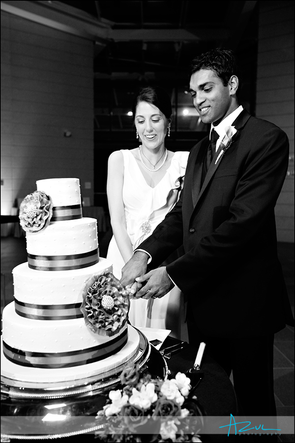 Perfect wedding day cake photograph from Sugarland Durham NC