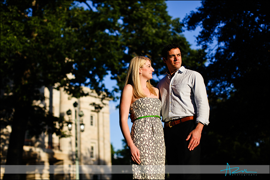 Downtown Raleigh wedding and engagement photographer