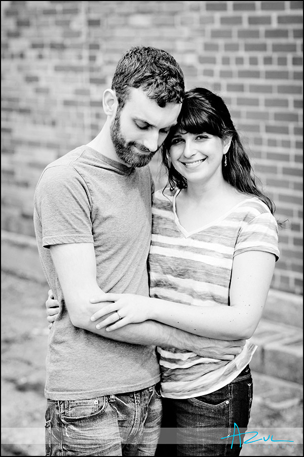 Traditional wedding engagement portrait session downtown Raleigh NC