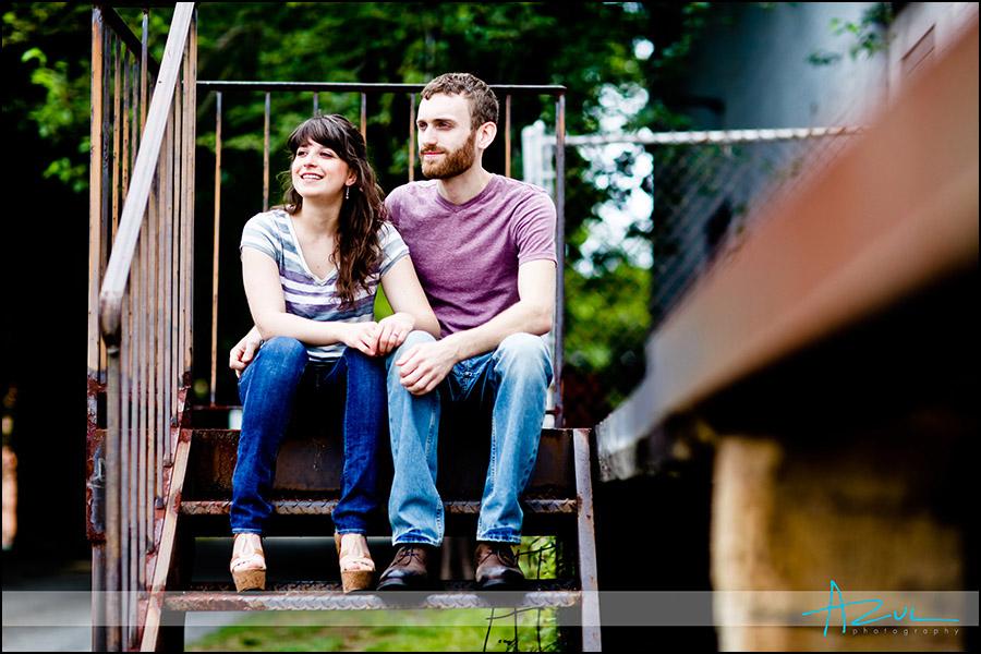 Unique Raleigh engagement portrait photographer