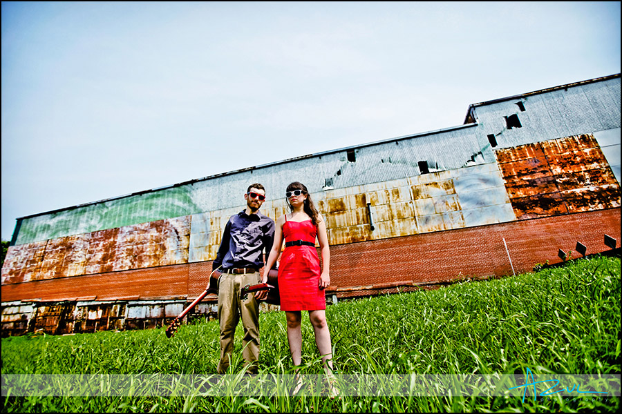 Urban band photography setting in downtown Raleigh NC