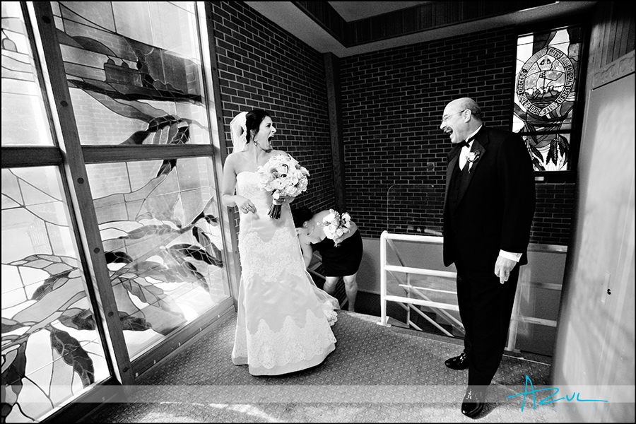Creative wedding day ceremony site photographer Raleigh NC