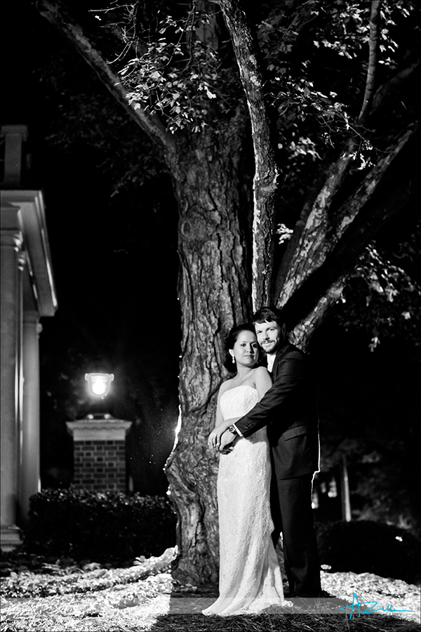 Cerative wedding day couple portraiture photographer Carolina Inn Chapel Hill NC