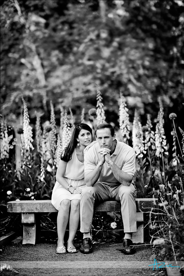 Duke Gardens engagement portrait session NC