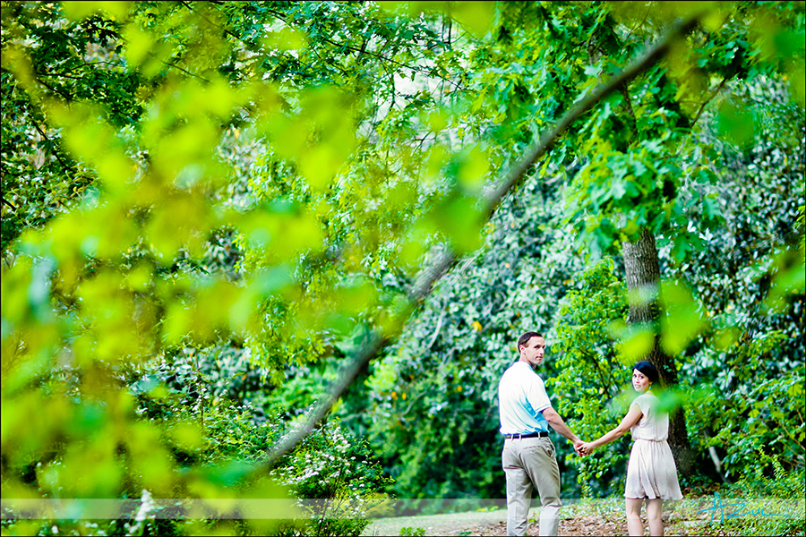 Engagement portrait session at Duke Gardens Durham NC