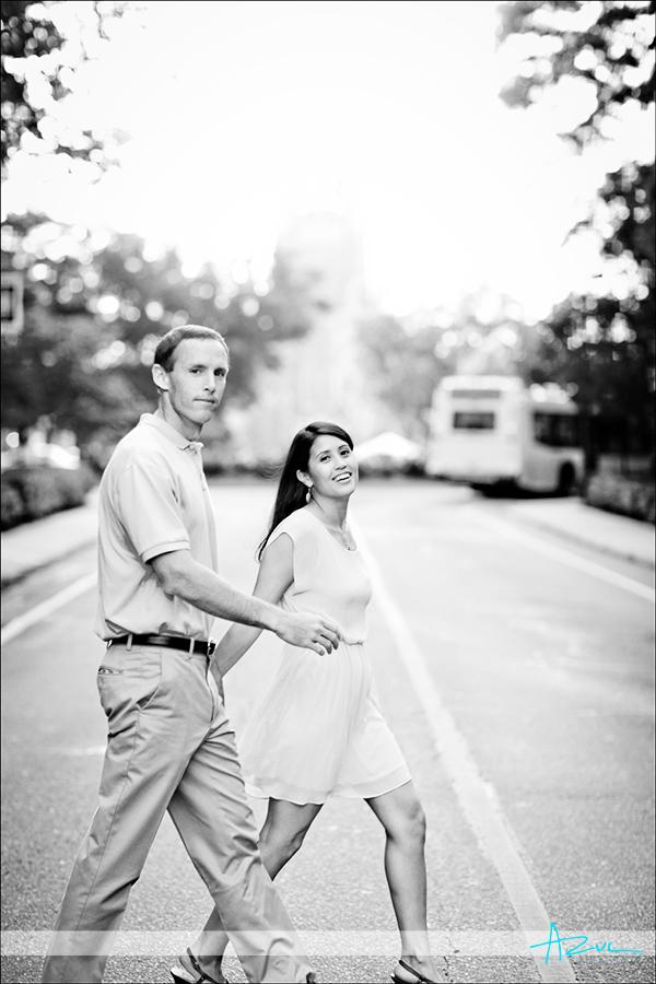 Engagement portrait sesion at Duke University Durham NC
