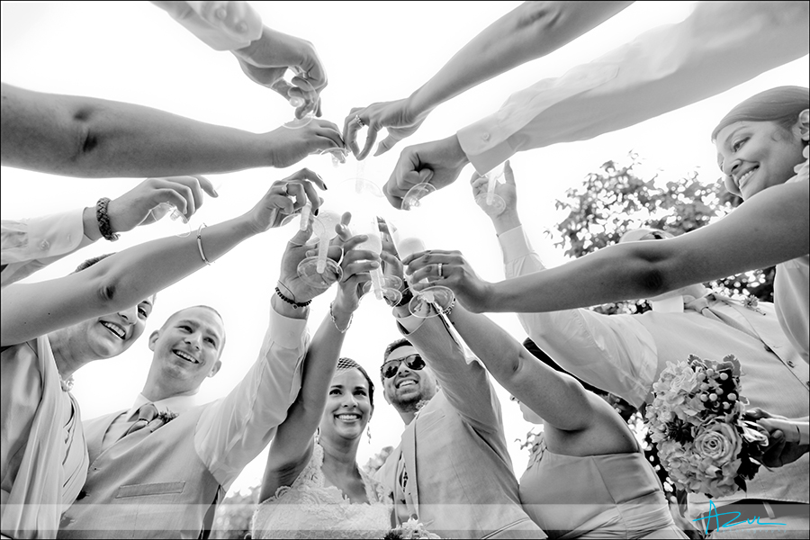 Creative bridal party photography Raleigh NC