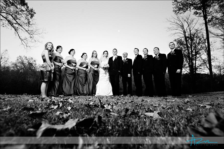 Highgrove Estate creative bridal party portrait photographer NC