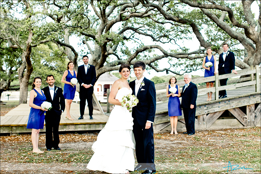 Creative wedding day bridal party photography Whalehead Club NC