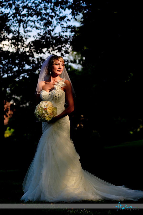 Natural light bridal portrait at The Carolina Inn, Chapel Hill NC