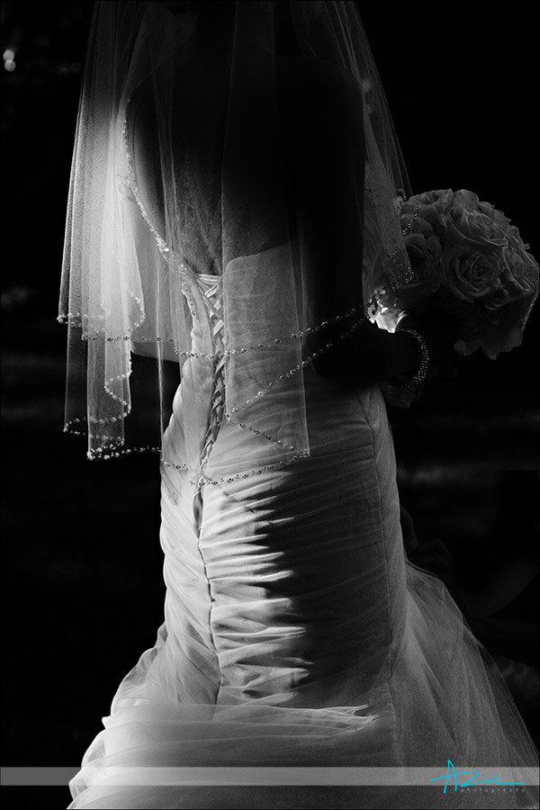 Perfect wedding day dress detail shot Chapel Hill North Carolina