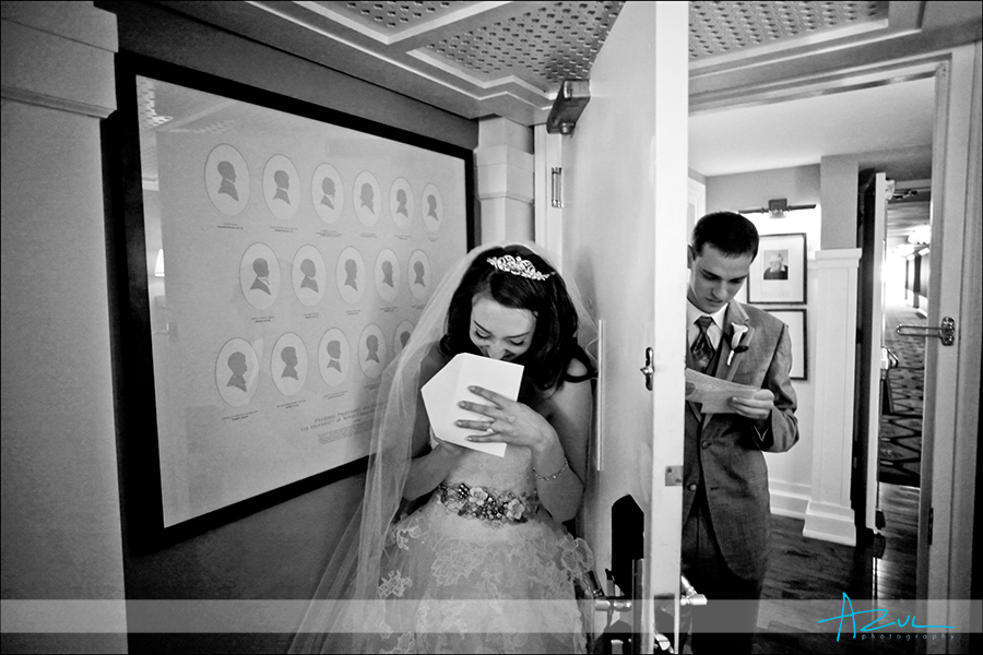 Cute wedding couple at Carolina Inn, Chapel Hill, NC