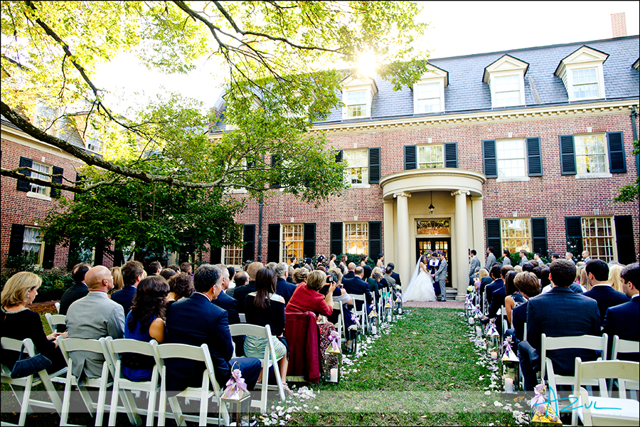 Beautiful Carolina Inn wedding October Chapel Hill NC