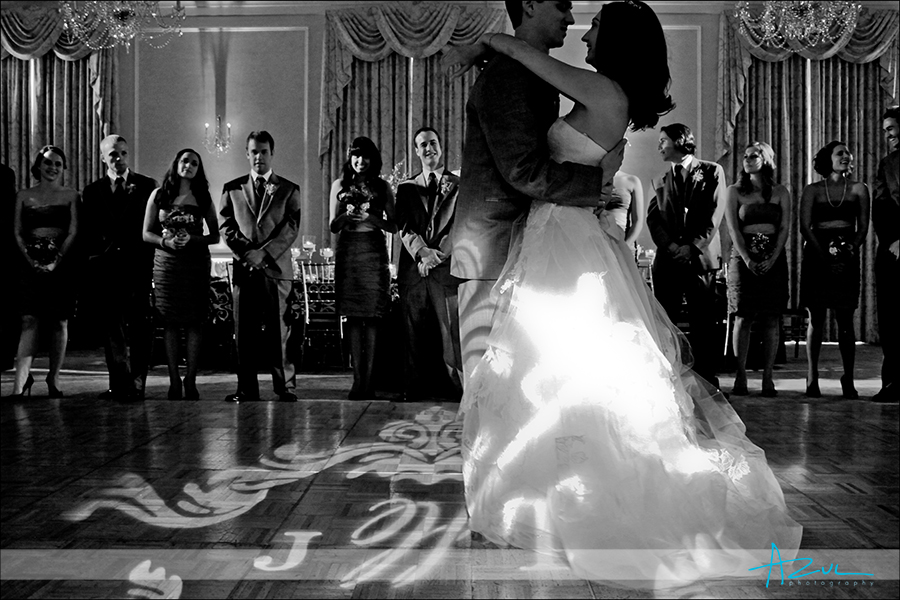 Creative first dance photography at The Carolina Inn Hill Ballroom