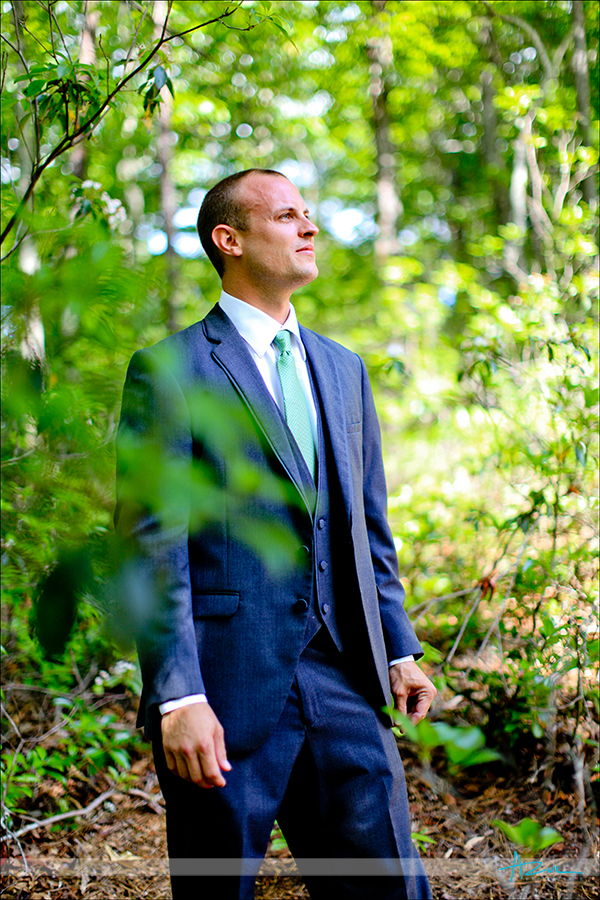 Strong wedding day portrait photography on wedding day Lake Lure NC