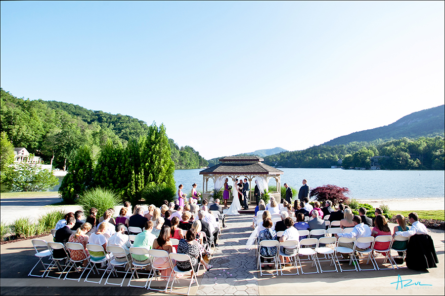 Rumbling bald resort ceremony location lake front gazebo NC