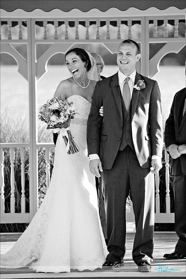 Great wedding day moment at Lake Lure NC at Rumbling Bald Resort