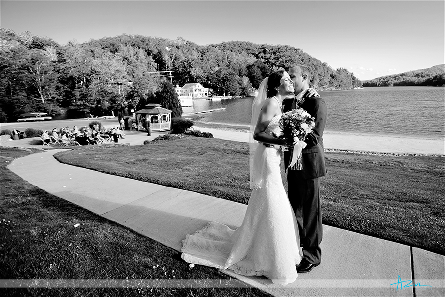 perfect wedding day ceremony photography at Lake Lure NC