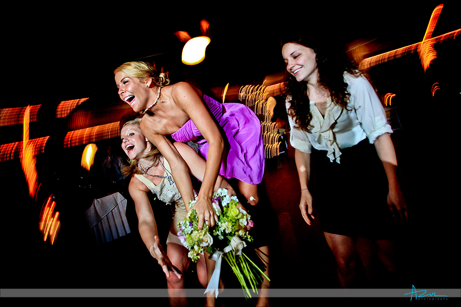 Best bouquet toss photography ever Lake Lure NC
