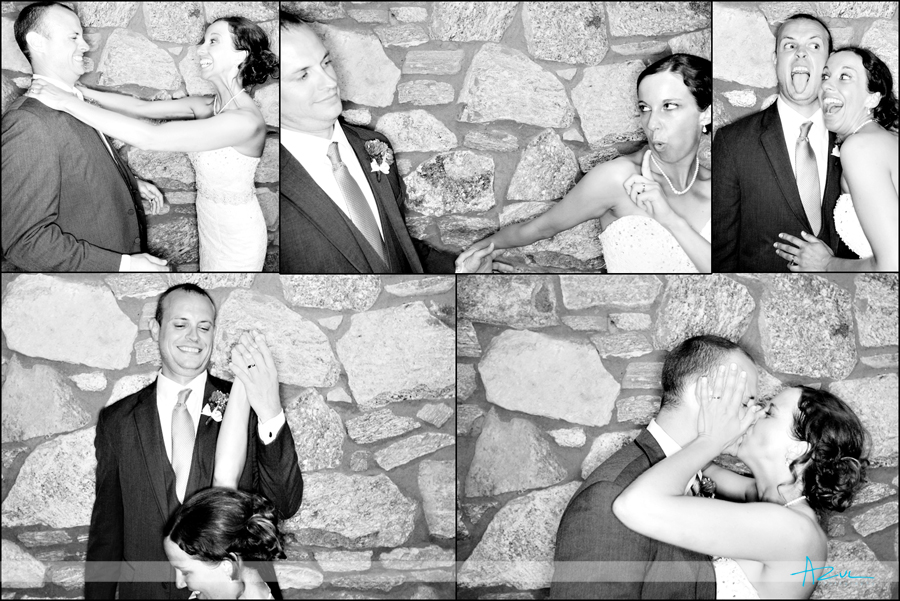 Creative wedding day photo booth Raleigh NC
