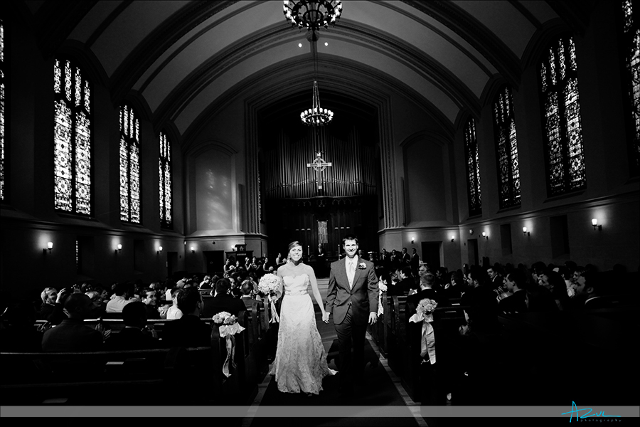 Creative wedding day ceremony photography at First Presbyterian Church Durham NC