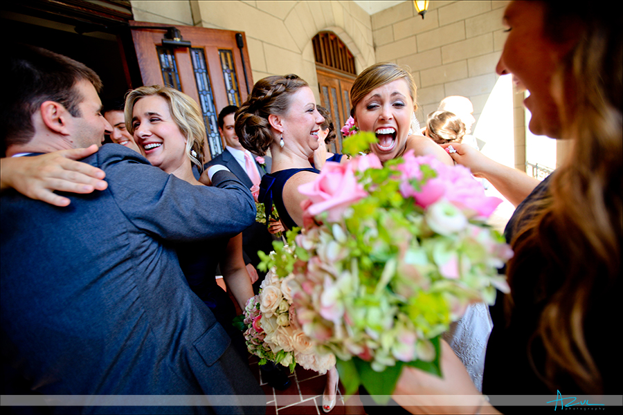 Best wedding photojournalism photography of ceremony at First Presbyterian Church Durham NC