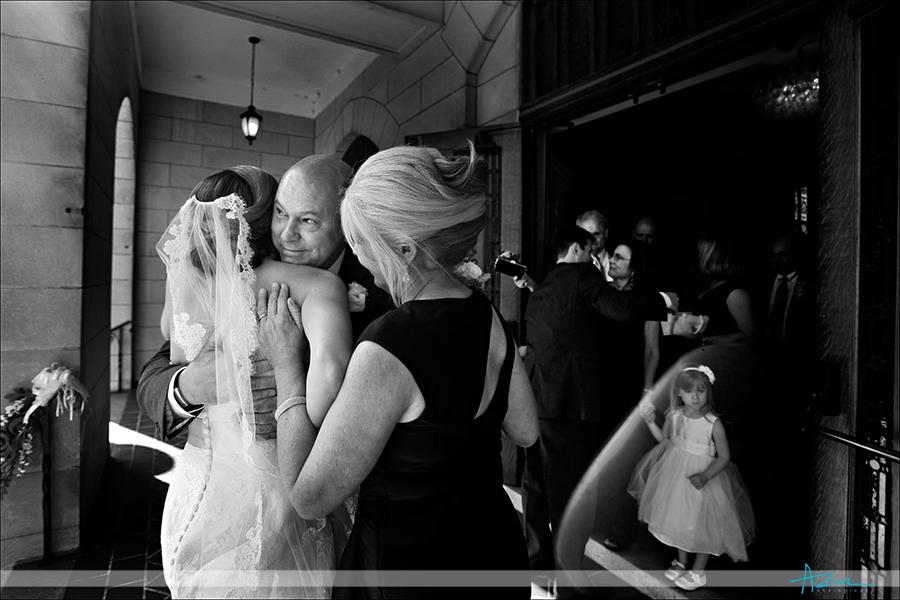 Touching wedding day ceremony moments photojournalism First Presbyterian Church Durham NC