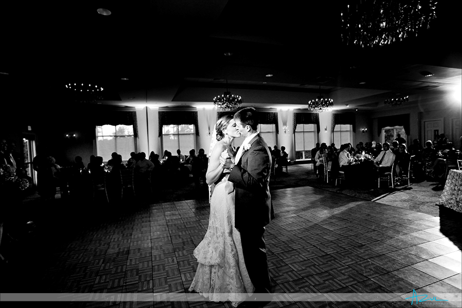 Different wedding day reception first dance photograph at Brier Creek Country Club Raleigh NC