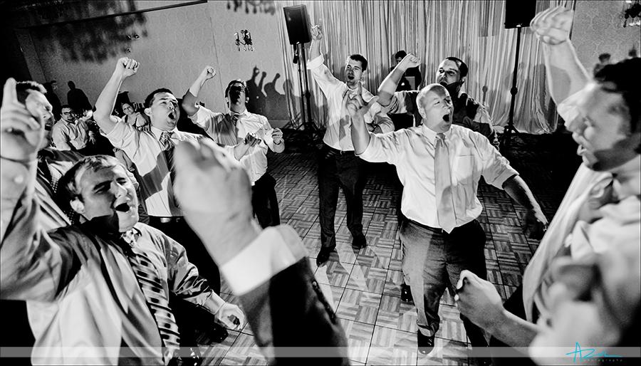Fun wedding reception venue photographs in Raleigh NC at Brier Creek Country Club