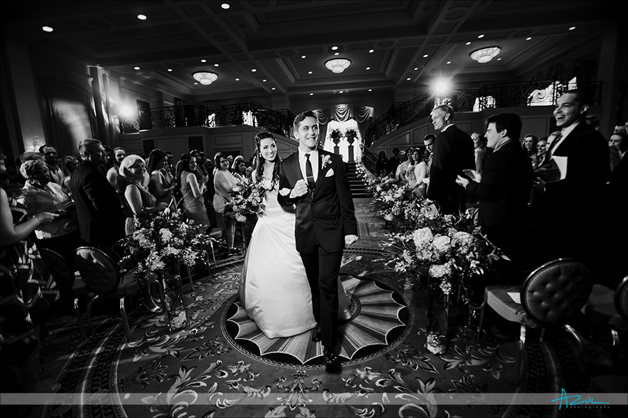 Ballroom wedding ceremony photography at  Prestonwood CC in Cary NC