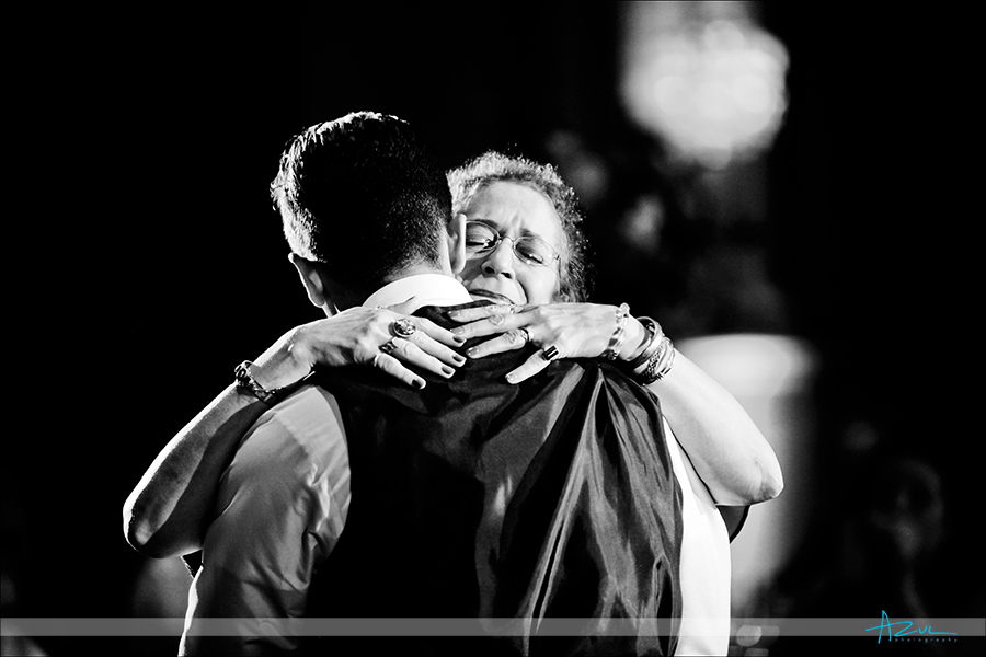 Wedding photojournalism of mother and son dance at  Prestonwood CC in Cary, near Raleigh NC