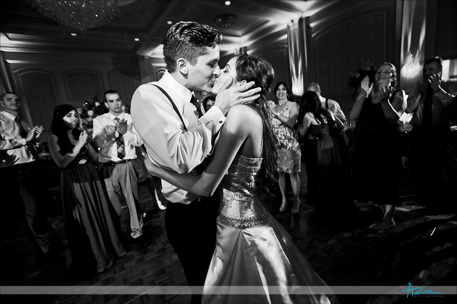 Last dance kiss reception ballroom lightning photography  Prestonwood CC in Cary NC