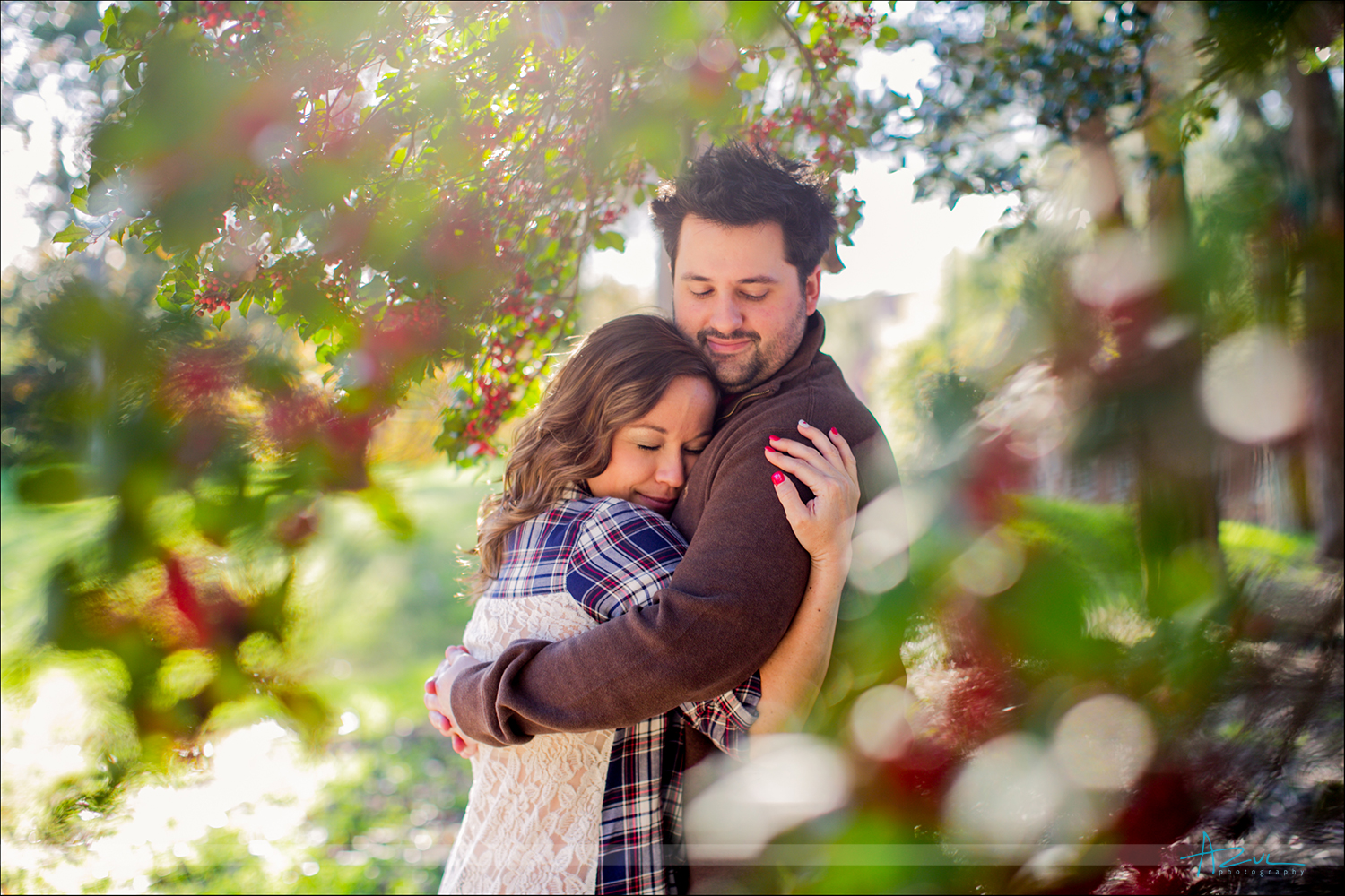 Portraits of bride and groom engagement session Raleigh NC