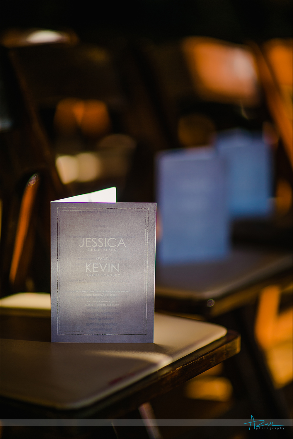 Perfect wedding day programs for guests in Raleigh, North Carolina