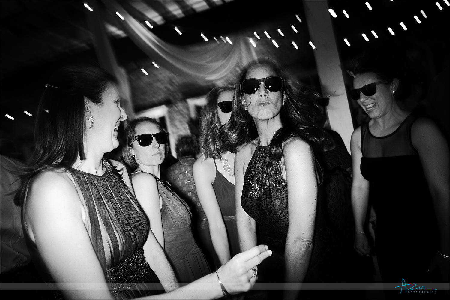 Sunglasses on wedding day as gifts for guests at The Stockroom NC