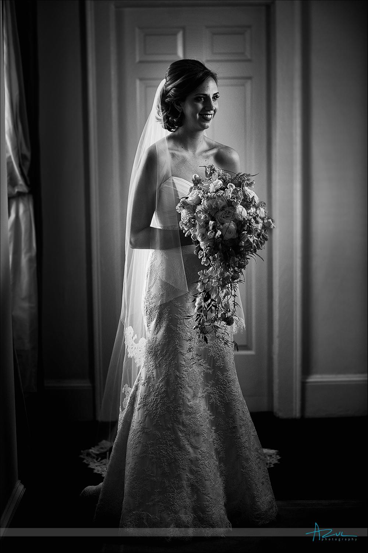 Wedding day bridal portrait photography at The Carolina Inn, NC