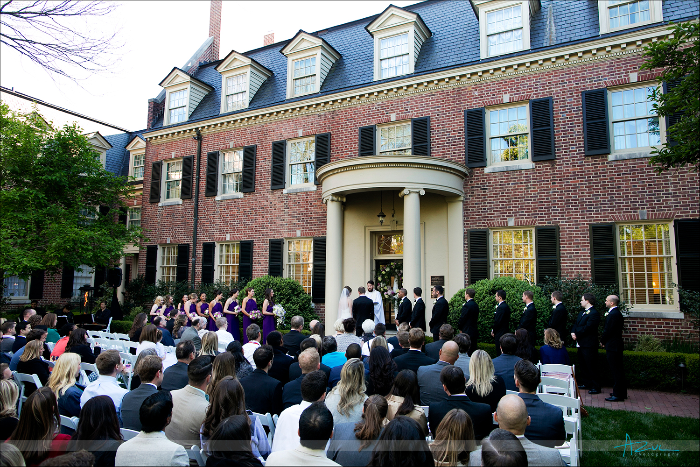 Ceremony photography from wedding at The Carolina Inn NC