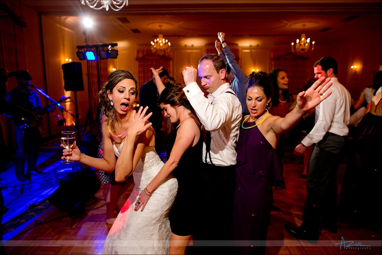 Best wedding day dancing photography at The Carolina Inn, NC