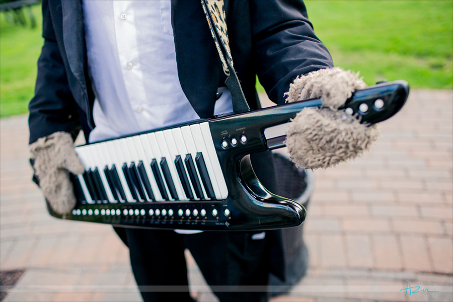 Best wedding day music is from Keytar Bear in Boston