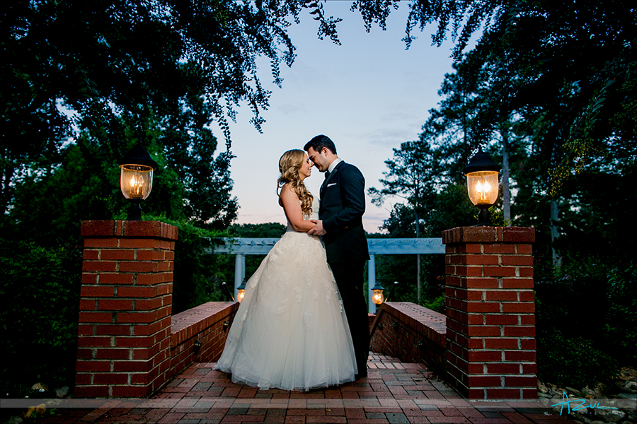 Sunset portrait of Brenna and Adam in North Carolina.
