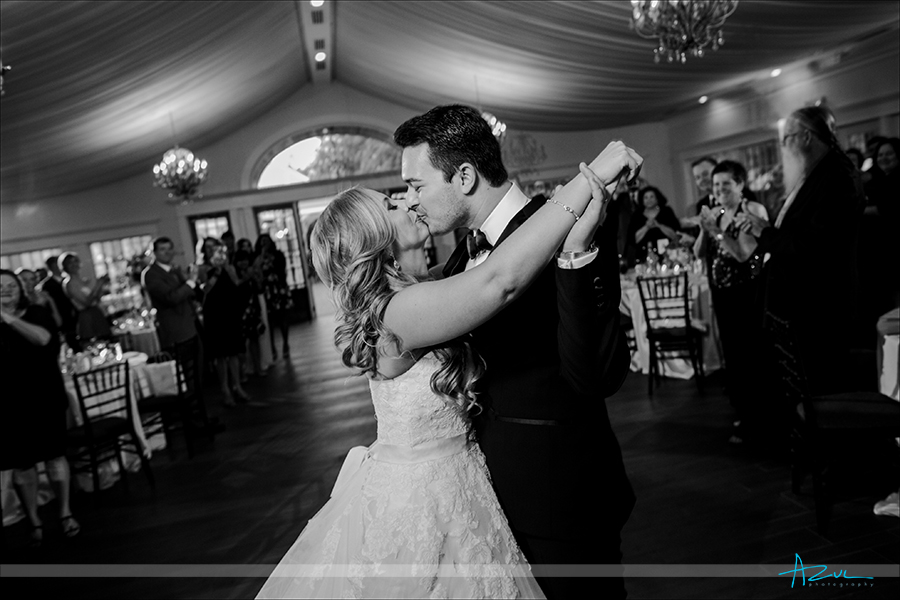 The wonderful couple's love is captured on the dance floor by the wedding photographer at Highgrove Estate in North Carolina.