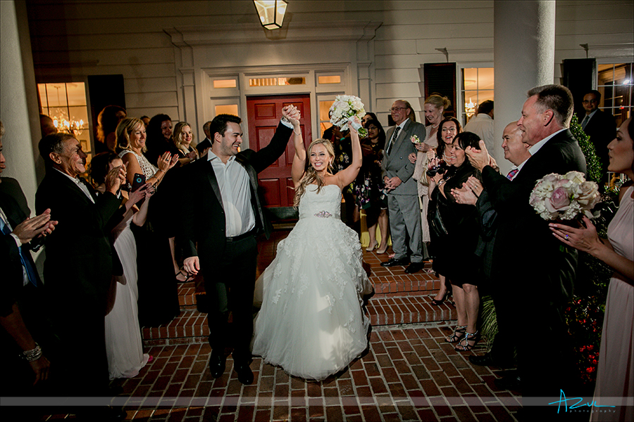 Wedding day exits are always fun for wedding photographers to shoot because they are all unique.