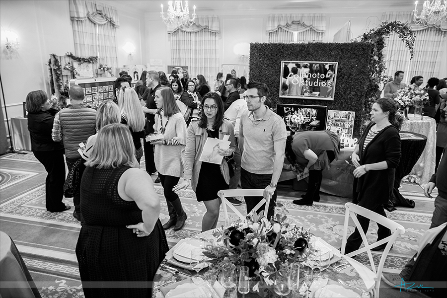 Brides and grooms filled The Carolina Inn's Hill ballroom to ask vendors questions during the wedding showcase in Chapel Hill, NC
