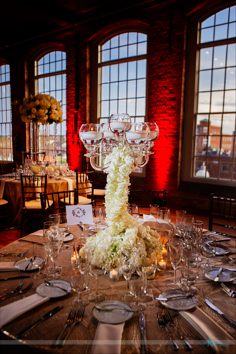 Amazing flowers created by Fresh Affairs in Raleigh NC for the wedding at The Cotton Room in Durham