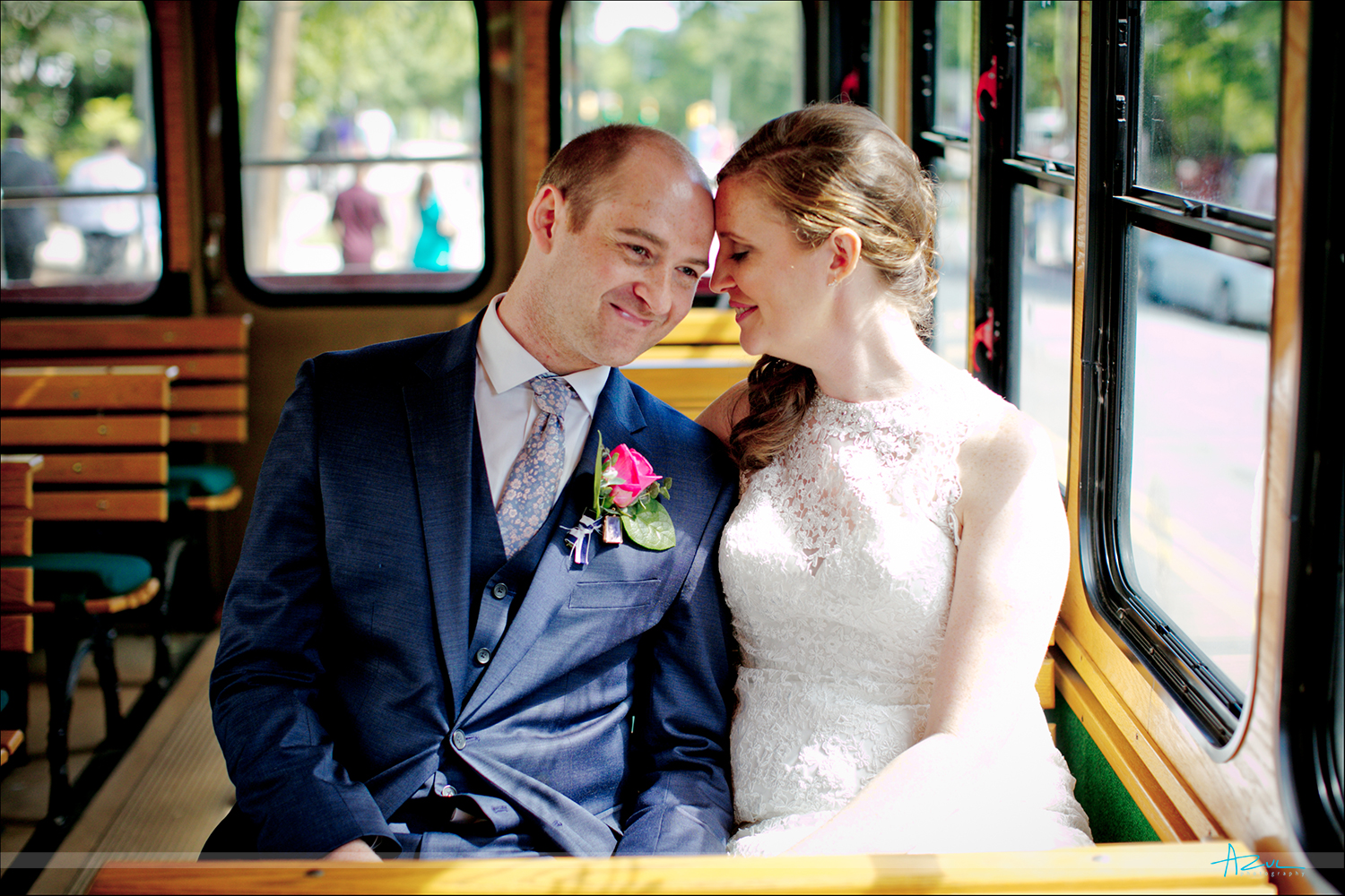 Raleigh wedding trolly is the best and is available for rental for any wedding or occasion.