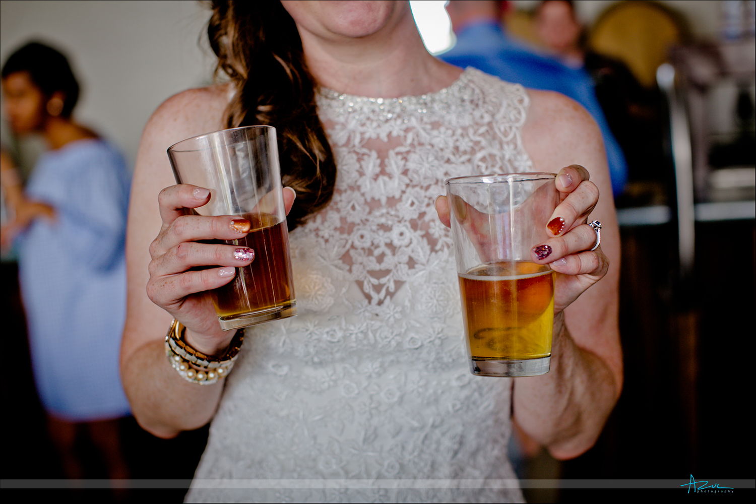 Beer on a wedding day is a wonderful way to celebrate the day while at Nuese River Brewing in Raleigh