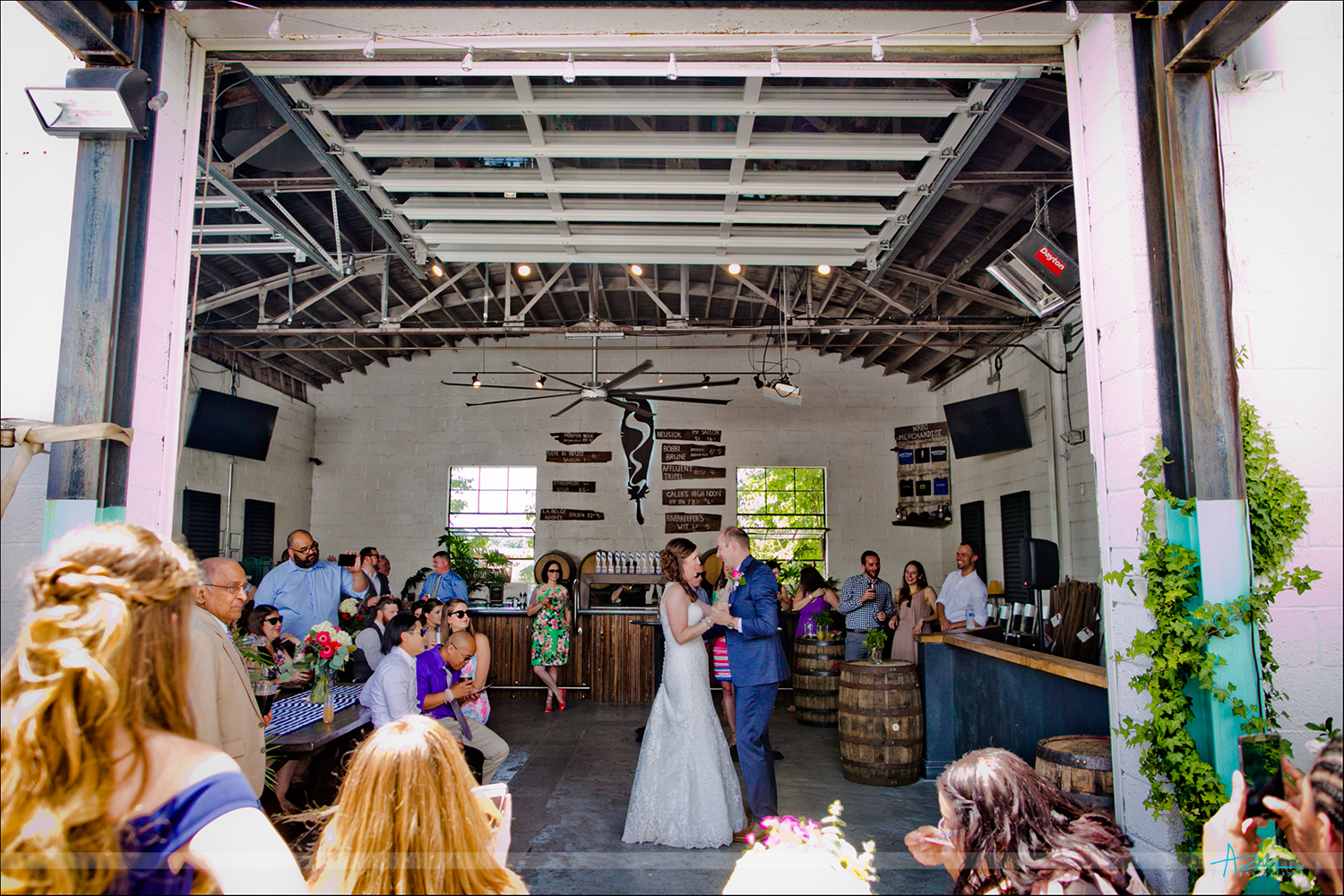 First dance photography at Neuse Brewery in Raleigh, North Carolina