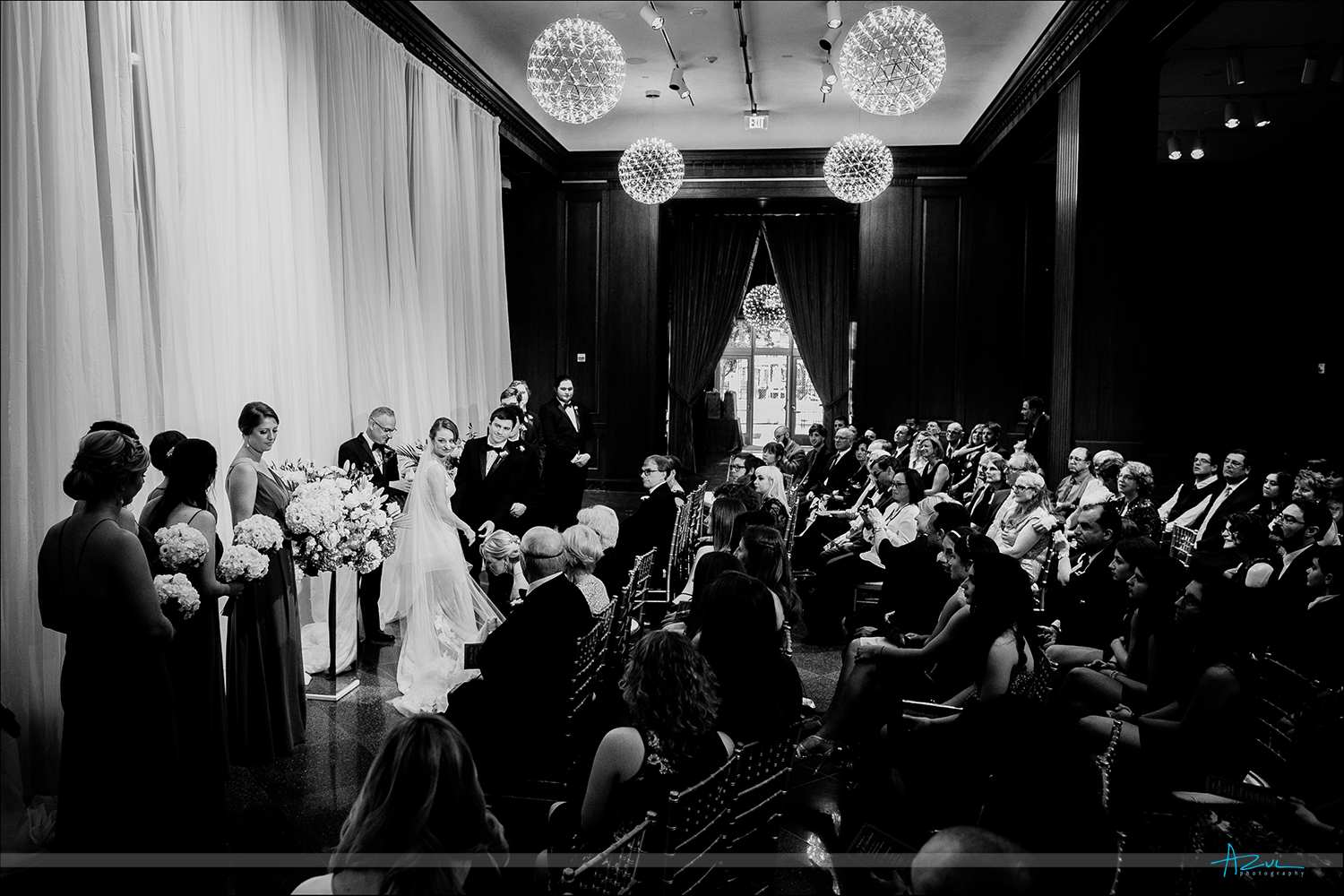 21c Museum & Hotel wedding day beautiful ceremony in Durham NC