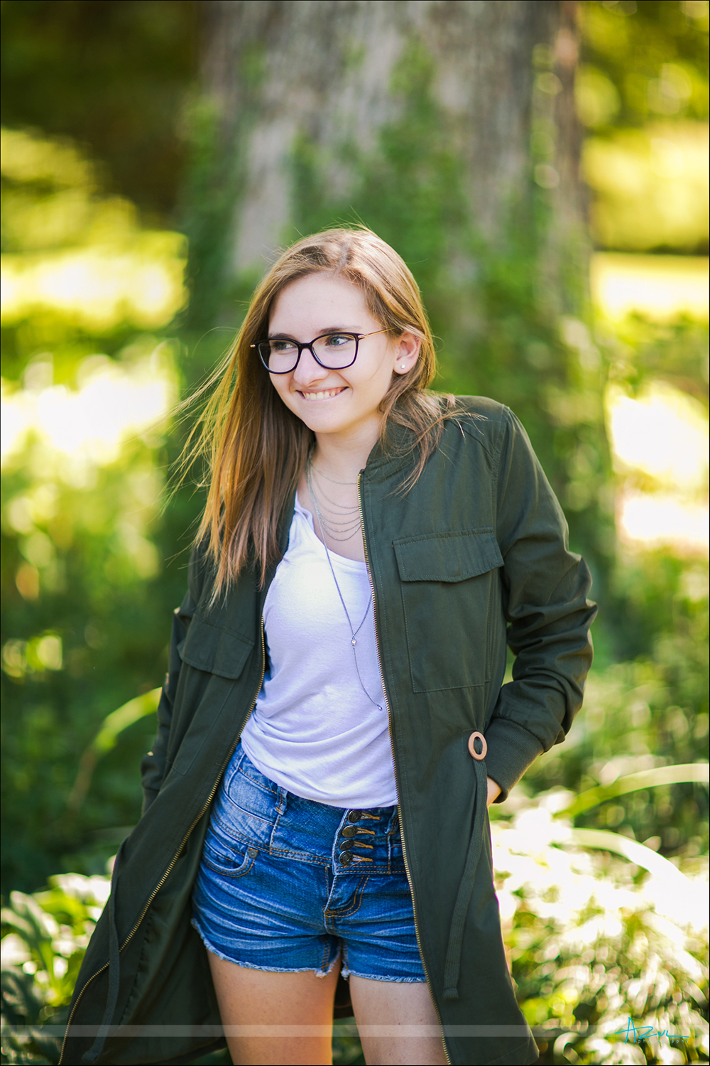 Fun Raliegh senior photography portraits at Fred Fletcher Park